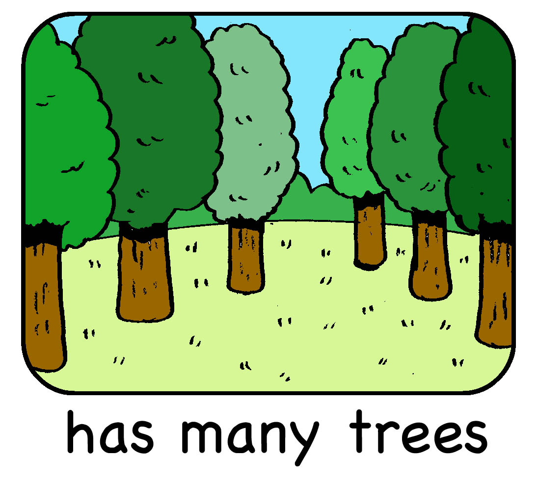 has many trees